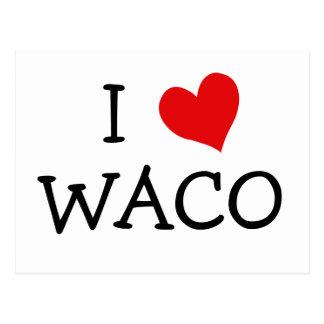 私はWacoを愛します ポストカード