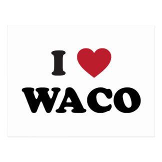 私はWacoテキサス州を愛します ポストカード