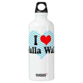 私はWalla Walla、米国を愛します ウォーターボトル