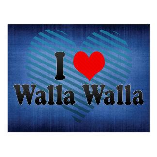 私はWalla Walla、米国を愛します ポストカード