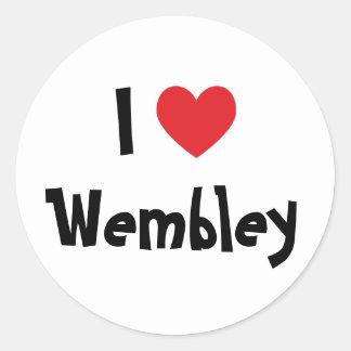 私はWembleyを愛します 丸型シール