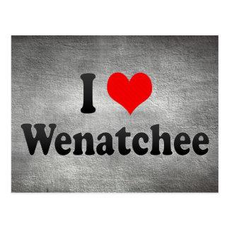 私はWenatchee、米国を愛します ポストカード