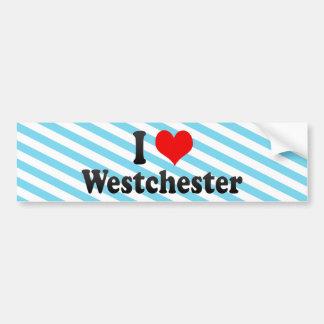 私はWestchester、米国を愛します バンパーステッカー