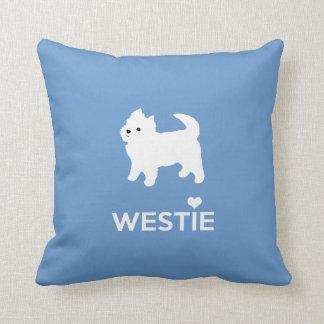 私はWestie犬-ウエスト・ハイランド・ホワイト・テリア--を愛します クッション