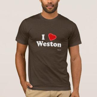 私はWestonを愛します Tシャツ