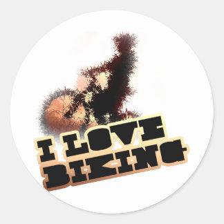 私はWheelieを自転車に乗ることを愛します ラウンドシール