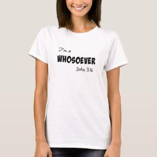 私はwhosoeverです tシャツ