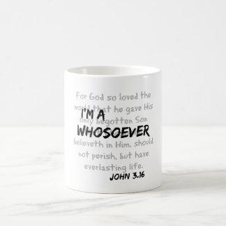 私はwhosoeverのキリスト教の引用文です コーヒーマグカップ