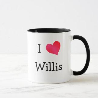 私はWillisを愛します マグカップ