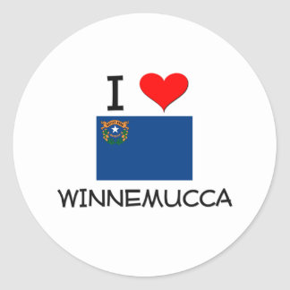 私はWinnemuccaネバダを愛します ラウンドシール