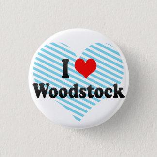 私はWoodstock、カナダを愛します 3.2cm 丸型バッジ