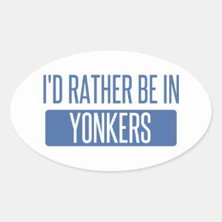 私はYonkersにむしろいます 楕円形シール