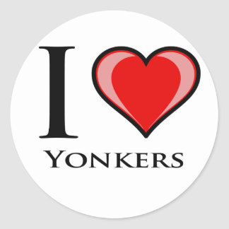 私はYonkersを愛します ラウンドシール