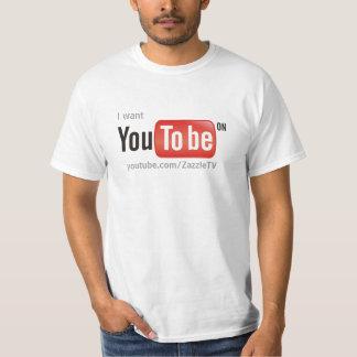 私はYouTubeにあってほしいです Tシャツ