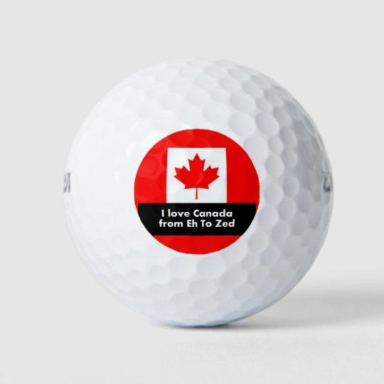 私はZedにカナダをからの愛します ゴルフボール