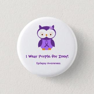 私はZoey Pinのための紫色を身に着けています 3.2cm 丸型バッジ