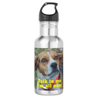 私へのおもしろいな話私はすべての耳のビーグル犬です ウォーターボトル