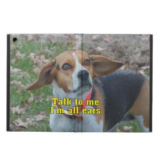 私へのおもしろいな話私はすべての耳のビーグル犬です iPad AIRケース