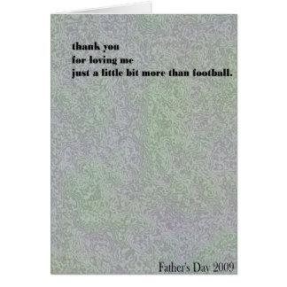 私またはフットボールか。 カード