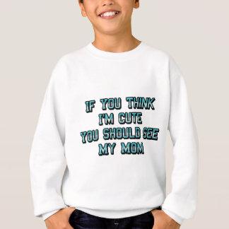 私をありますかわいいですが考えて下さい スウェットシャツ