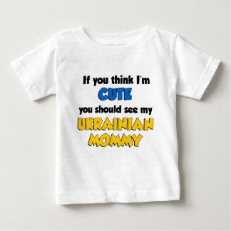 私をありますかわいいウクライナのお母さんが考えて下さい ベビーTシャツ