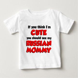 私をありますかわいくロシアのなお母さんが考えて下さい ベビーTシャツ