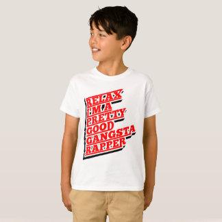 私をありますかわいらしくよいギャングの話し手がリラックスして下さい Tシャツ