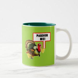 私をおもしろいなトルコ日のデザイン赦免して下さい ツートーンマグカップ