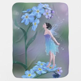 私をない花の妖精のベビーブランケット忘れて下さい ベビー ブランケット
