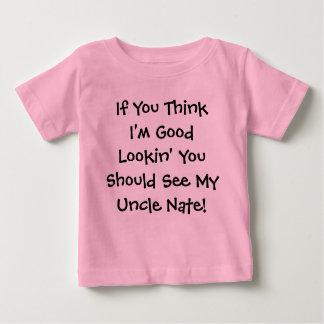 私をならあなたがべきである私を…見るよいLookin考えれば ベビーTシャツ