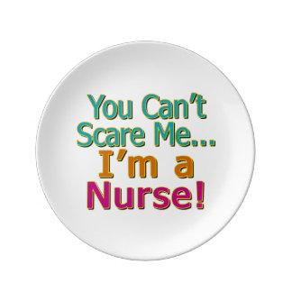 私をのおもしろいなナースの看護おびえさせることができません 磁器プレート