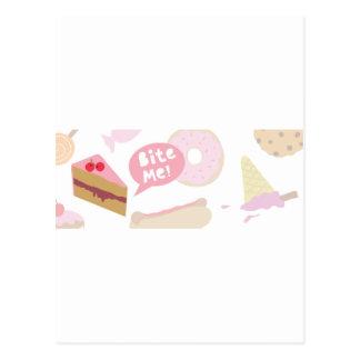 私をの愛ケーキかんで下さい ポストカード