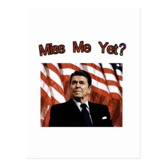 私をまだ恋しく思って下さいか。  レーガン大統領 ポストカード