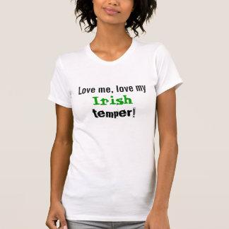 私をアイルランド人の気性愛して下さい Tシャツ