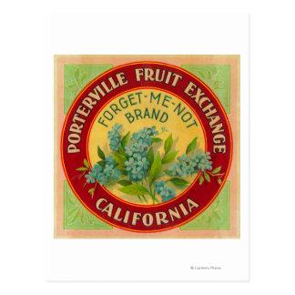 私をオレンジLabelPorterville、カリフォルニア忘れて下さい ポストカード