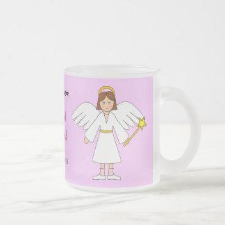 私をカスタマイズ -- 子供の出生の天使 フロストグラスマグカップ