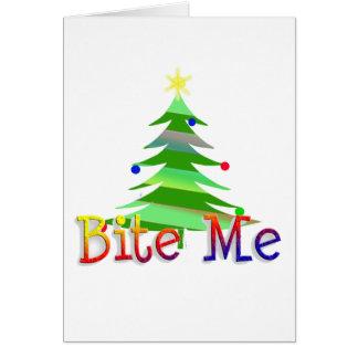 私をクリスマスツリーかんで下さい グリーティングカード