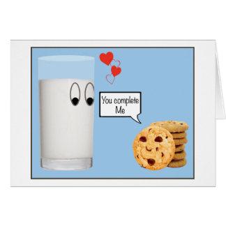 私をミルクおよびクッキー完了します カード
