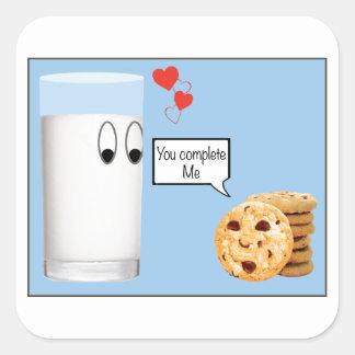 私をミルクおよびクッキー完了します スクエアシール
