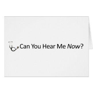 私を今聞くことができます カード