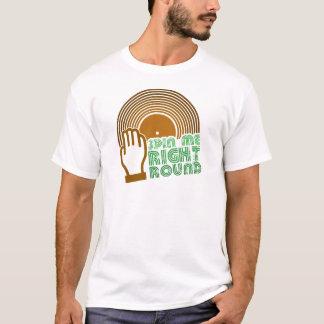 私を右の円形回して下さい Tシャツ