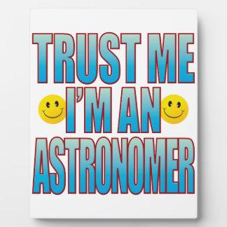 私を天文学者の生命B信頼して下さい フォトプラーク