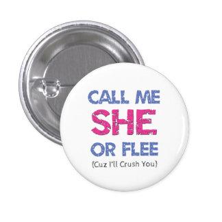 私を彼女と電話して下さい 3.2CM 丸型バッジ
