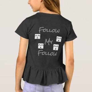 私を後を追います後を追って下さい Tシャツ