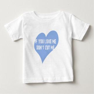 私を愛したら私を切らないで下さい ベビーTシャツ