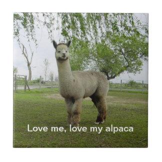 私を愛して下さい、私のアルパカのタイルを愛して下さい タイル