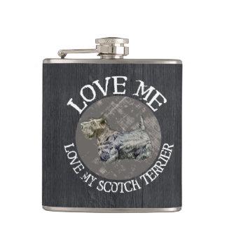 私を愛して下さい、私のスコッチテリアを愛して下さい フラスク