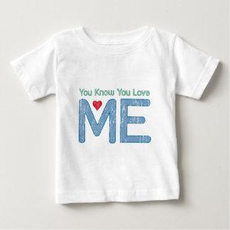 私を愛することを知っています ベビーTシャツ