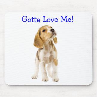 私を愛するために得られるビーグル犬の子犬のマウスパッド マウスパッド