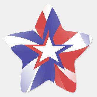 私を愛国心が強いステッカー-赤白青のギフト眩まして下さい 星シール